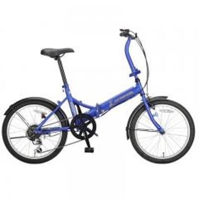 キャプテンスタッグ【送料無料】キャプテンスタッグ 折りたたみ自転車 ナビーFDB206  20×1.75  MBL(マットブルー)
