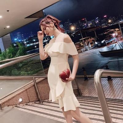 イブニングドレス Aライン ショート丈 カラードレス パーティードレス 結婚式 ウェディングドレス 二次会ドレス 大きいサイズ 演奏会 お花嫁ドレス 姫系