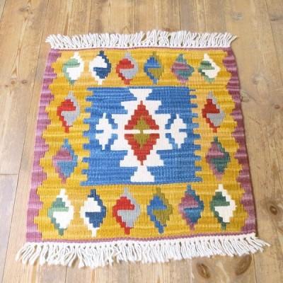 カイセリキリム・ミンダーサイズ47×44cmトルコキリム手織り・ウール100%