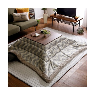 リバーシブル天板の布団付きカジュアルこたつセット(ウェーブ柄) こたつ, Kotatsu(ニッセン、nissen)