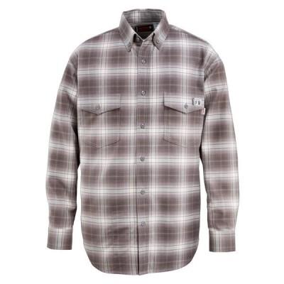 ウルヴァリン シャツ トップス メンズ Wolverine Men's Flame Resistant Twill Plaid Shirt Charcoal/Gray