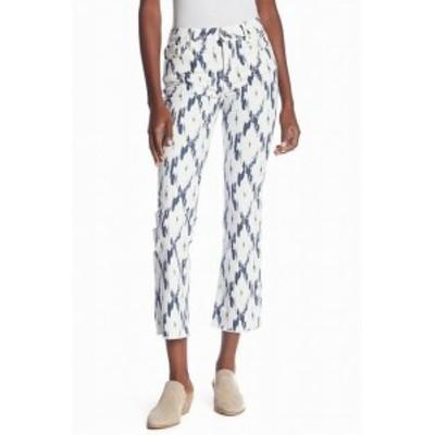 Free People フリーピープル ファッション パンツ Free People NEW White Womens Size 30 Printed Capri Pants Stretch