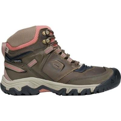 キーン KEEN レディース ハイキング・登山 ブーツ シューズ・靴 Ridge Flex Mid WP Hiking Boot Timberwolf/Brick Dust