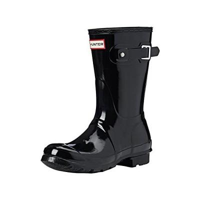 Hunter Womens Original Short Black Rain Boot - 9 B(M) US