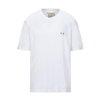 PROJECT E T シャツ ホワイト L コットン 100% T シャツ