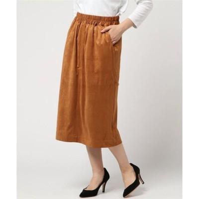 スカート 【La・comfy】スエード Aラインスカート
