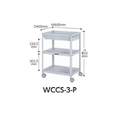 【直送品】 山金工業 コンビニワゴン(双輪キャスター) WCCS-3-P 【法人向け、個人宅配送不可】 【大型】