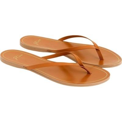 ジェイクルー J.Crew レディース ビーチサンダル シューズ・靴 New Capri Leather Flip-Flop Roasted Pecan