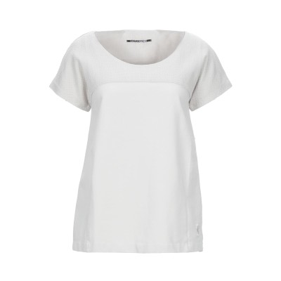 EUROPEAN CULTURE T シャツ ライトグレー S コットン 98% / ポリウレタン® 1% / ポリウレタン 1% T シャツ