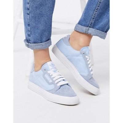 アディダス レディース スニーカー シューズ adidas Originals Continental 80 Vulc trainers in blue