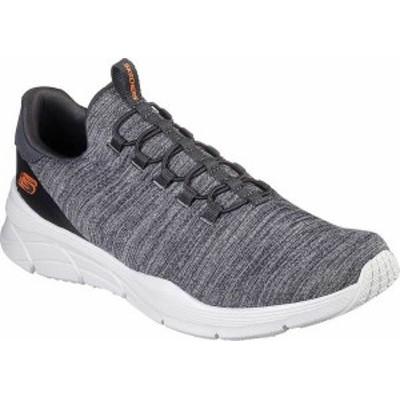 スケッチャーズ メンズ スリッポン・ローファー シューズ Men's Skechers Relaxed Fit Equalizer 4.0 Voltis Sneaker Charcoal/Orange