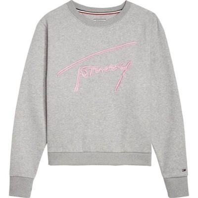 トミー ヒルフィガー Tommy Hilfiger レディース スウェット・トレーナー トップス Tommy Jeans Signature Sweatshirt Light Grey