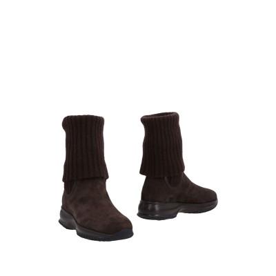 ホーガン HOGAN ショートブーツ ダークブラウン 36 紡績繊維 / 革 ショートブーツ