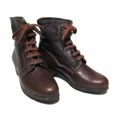 Vintage Hungary military ヴィンテージハンガリー軍「39」レザー7ホールブーツ (ブラウン 靴 シューズ) 126620 【中古】