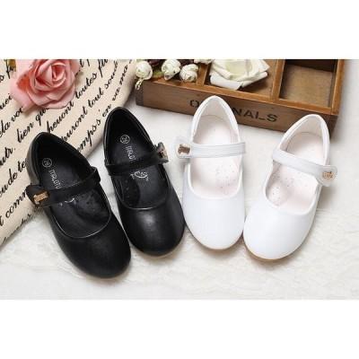 子供靴 結婚式 ドレス秋冬新品黒白 フォーマルシューズ ジュニアキッズシューズ 子どもフォーマルピアノ発表会  子供