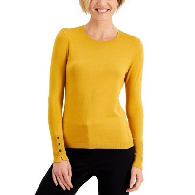 ジェイエムコレクション ニット&セーター アウター レディース Petite Crewneck Sweater Golden Poppy