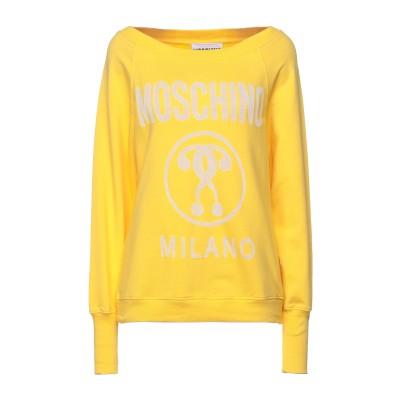 モスキーノ MOSCHINO スウェットシャツ イエロー 40 コットン 65% / ポリエステル 35% スウェットシャツ