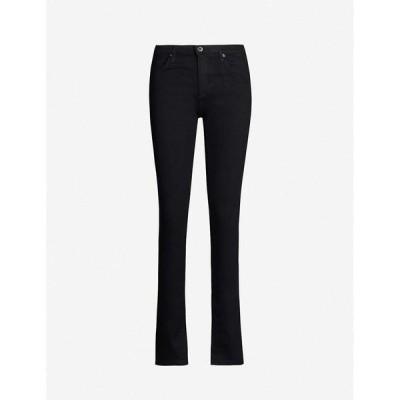 エージー AG レディース ジーンズ・デニム ボトムス・パンツ Harper straight high-rise jeans Opulent Black