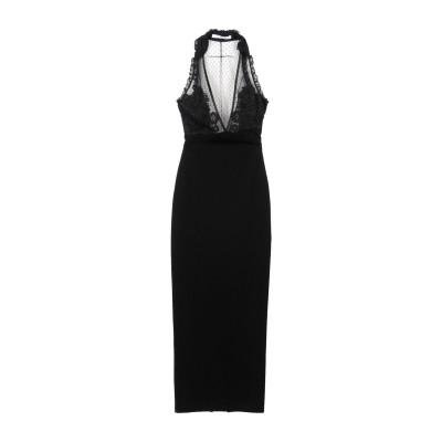ジバンシィ GIVENCHY ロングワンピース&ドレス ブラック 38 レーヨン 85% / ナイロン 11% / ポリウレタン 4% ロングワンピ