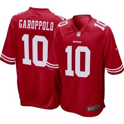 ナイキ Nike メンズ ポロシャツ トップス San Francisco 49ers Jimmy Garoppolo #10 Red Game Jersey