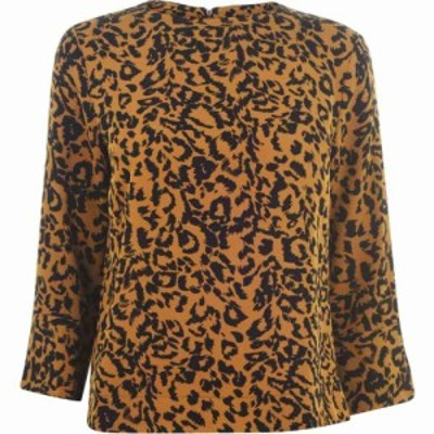 ビバ Biba レディース ブラウス・シャツ トップス Contour Cuff Shell Blouse leopard