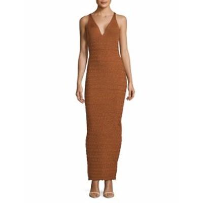 ロニーコボ レディース ワンピース Tilda Textured Deep V-Neck Dress