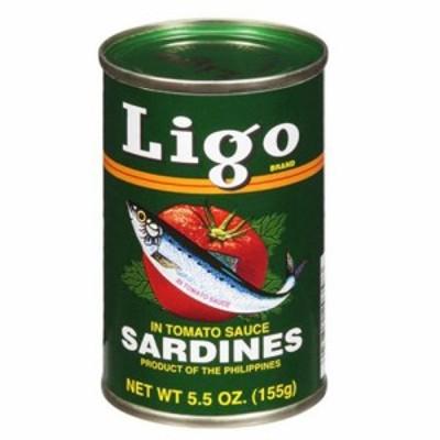 イワシのトマトソース漬け リゴ 155g Ligo Sardines In Tomato Sauce【缶詰 セット】【非常食】【保存食】【長期保存】