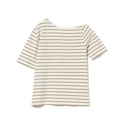 tシャツ Tシャツ B:MING by BEAMS / アシメネック ボーダーTシャツ