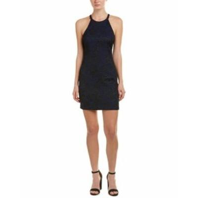 Parker パーカー ファッション ドレス Parker Jacquard Sheath Dress S Blue