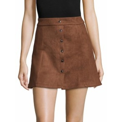 フューモーダ レディース スカート Button-Down Mini Skirt