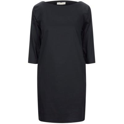 VICOLO ミニワンピース&ドレス ブラック S コットン 45% / アクリル 30% / ナイロン 25% ミニワンピース&ドレス