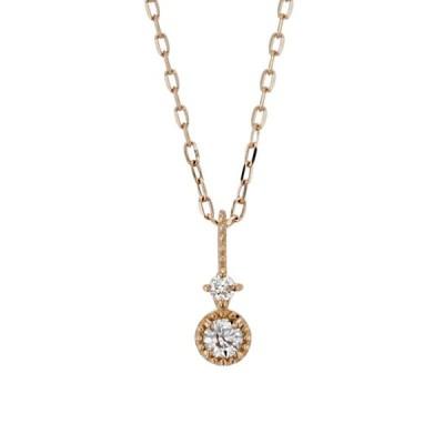 ネックレス レディース ダイヤモンド K10 ピンクゴールド 10k 10金 BLOOM ブルーム