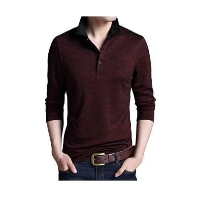 YFFUSHI メンズ ポロシャツ polo tシャツ ゴルフウェア ゴルフシャツ S-2XL 無地 長袖