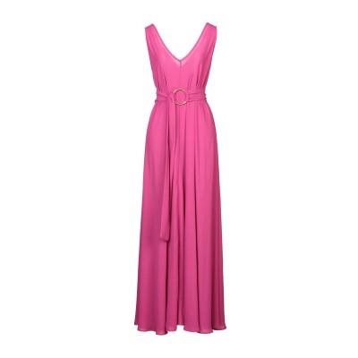 MAESTA ロングワンピース&ドレス フューシャ 44 PES - ポリエーテルサルフォン 100% ロングワンピース&ドレス
