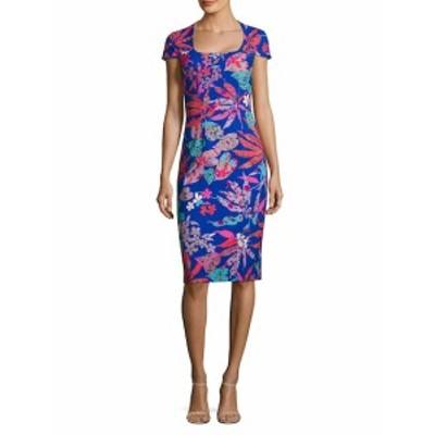 テイア レディース ワンピース Floral-Print Sheath Dress