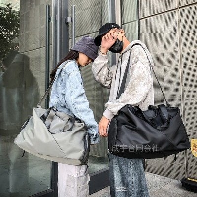 【seiu-】ボストンバッグ 大容量 トートバッグ ナイロンバッグ トラベルバッグ ショルダーバッグ スポーツバッグ 無地 収納 軽量 撥水 手提け 大きめ 男女兼用