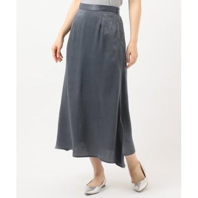 【洗える】微起毛サテンマーメイドスカート