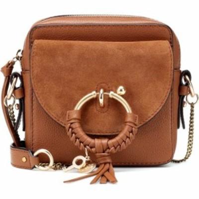 クロエ See By Chloe レディース ショルダーバッグ カメラバッグ バッグ Joan Mini leather camera bag Caramello