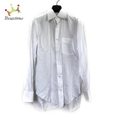 バルバ BARBA 長袖シャツ メンズ - 白   スペシャル特価 20210902