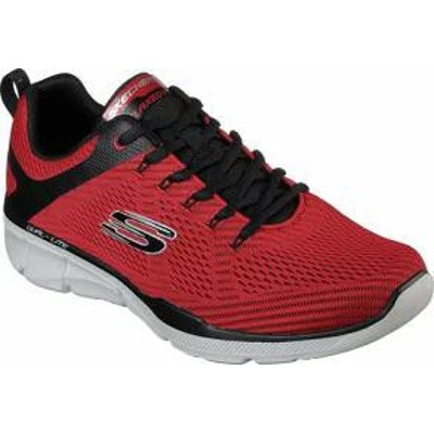 Skechers メンズスニーカー Skechers Relaxed Fit Equalizer 30 Sneaker Red/Black