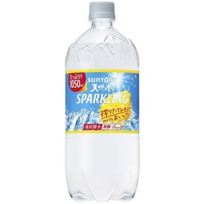 6/13限定!倍!倍!ストア+5%対象 送料無料 炭酸水 サントリー 天然水スパークリング レモン 1000ml 1L×12本