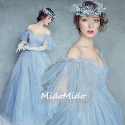 新品 女の子 姫系 写真撮影用ドレス ロングドレス パーティードレス 福袋 記念撮影 フリーサイズ レディース 女性 ドレス 結婚式服装