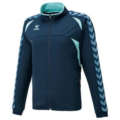 ◆◆ <ヒュンメル> HUMMEL HAT2066 ウォームアップジャケット(7065:ネイビー×ラディエンスブルー) ヒュンメル トレーニングシャツ(ha