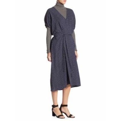 ヴィンス レディース ワンピース Polka Dot Kimono Wrap Dress