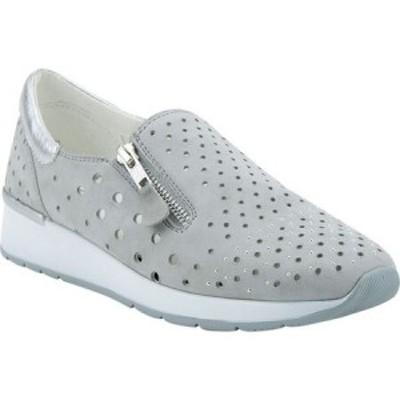 スプリングステップ Spring Step レディース スリッポン・フラット スニーカー シューズ・靴 Medinee Slip-On Sneaker Grey Perforated S