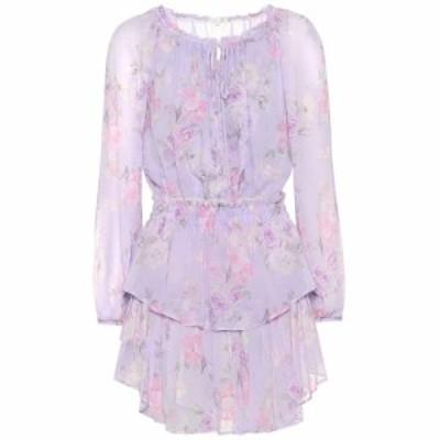 ラブシャックファンシー LoveShackFancy レディース ワンピース ワンピース・ドレス Popover floral silk minidress Hibiscus