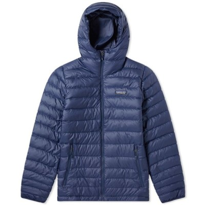 パタゴニア Patagonia メンズ ダウン・中綿ジャケット アウター Down Sweater Hoody Classic Navy