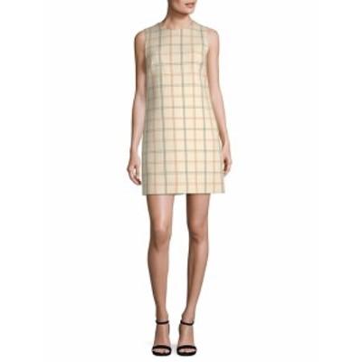 セオリー レディース ワンピース Adraya NB Checkered Wool Shift Dress