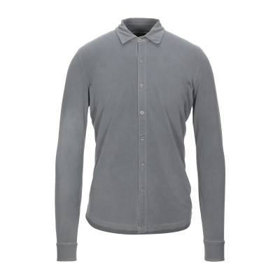 マジェスティック MAJESTIC FILATURES シャツ 鉛色 M コットン 94% / ポリウレタン 6% シャツ