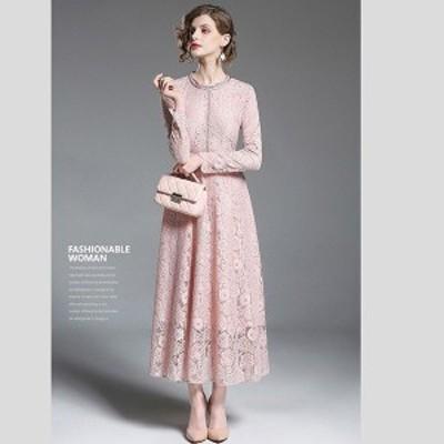 パーティードレス ワンピース レースドレス 結婚式 20代 40代  きれいめ 二次会 発表会お呼ばれ 30代